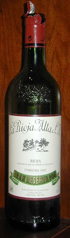 La Rioja Alta Gran Reserva 904 ( la Rioja Alta ) 1995