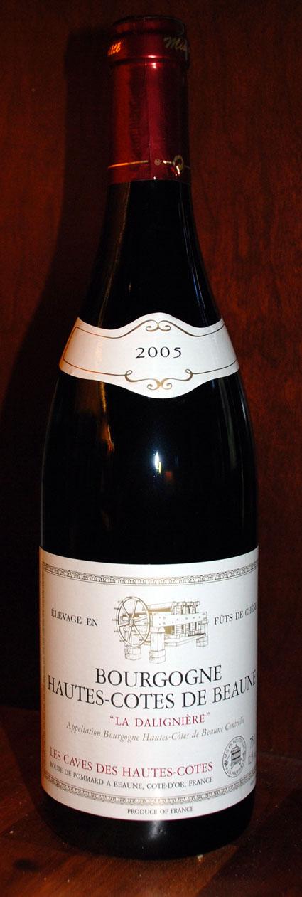 La Daligniere Hautes-Côtes de Beaune ( les Caves des Hautes-Côtes ) 2010