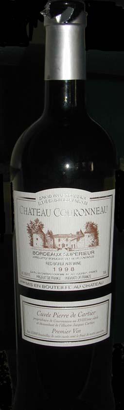 Cuvée Pierre de Cartier ( Château Couronneau ) 1998