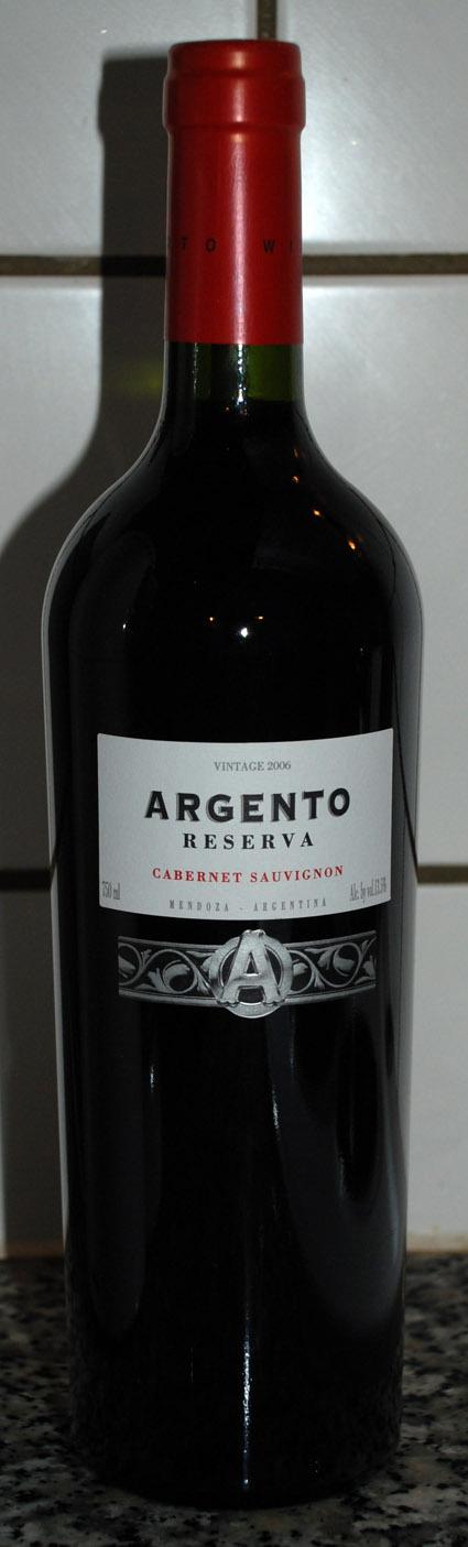 Argento Cabernet Sauvignon Reserva ( Argento Wine ) 2008