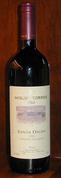 Santa Digna Cabernet Sauvignon Reserve ( Miguel Torres ) 2002