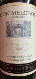 Don Melchor Private Reserve Cabernet Sauvignon ( Concha y Toro ) 1997