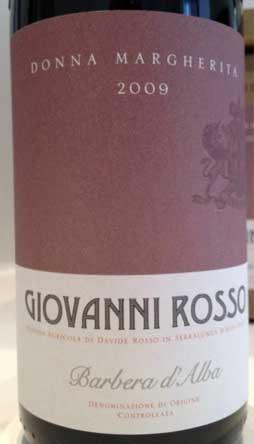 Barbera d`Alba Donna Margherita ( Giovanni Rosso ) 2007