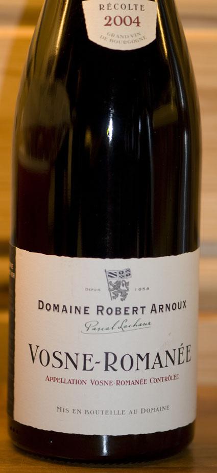 Vosne-Romanée ( Domaine Robert Arnoux ) 2004
