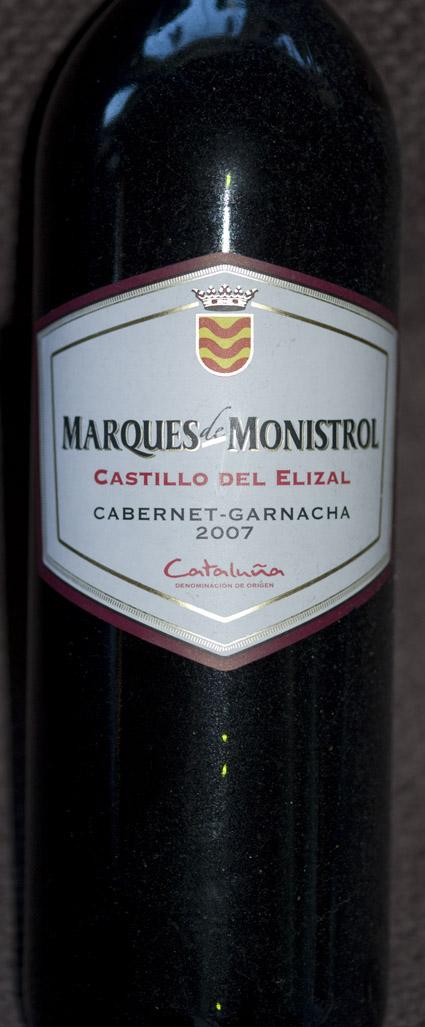 Castillo del Elizal Cabernet Garnacha ( Marques de Monistrol ) 2007