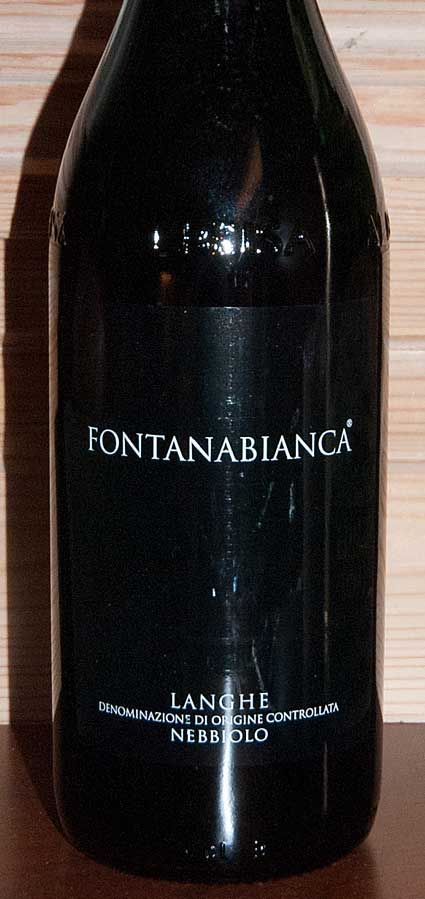 Langhe Nebbiolo ( Fontanabianca ) 2012