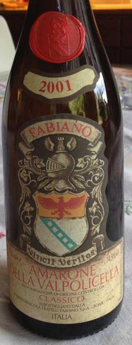 Amarone della Valpolicella Classico DOC ( Fabiano ) 2013