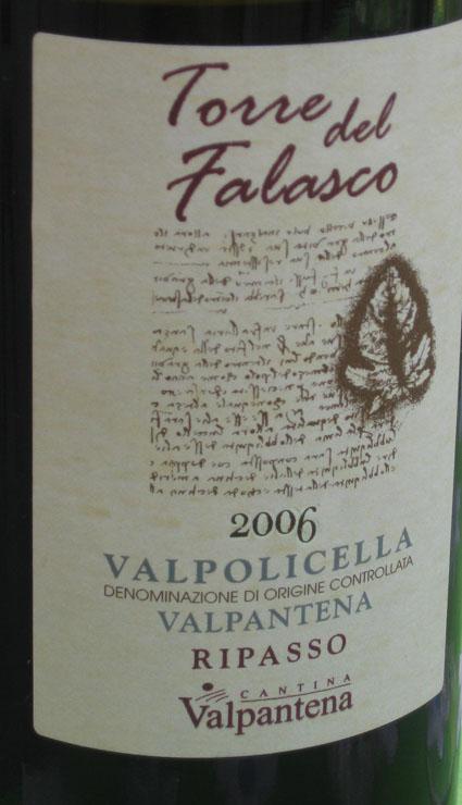 Valpolicella Ripasso Falasco ( Cantina Valpantena ) 2002