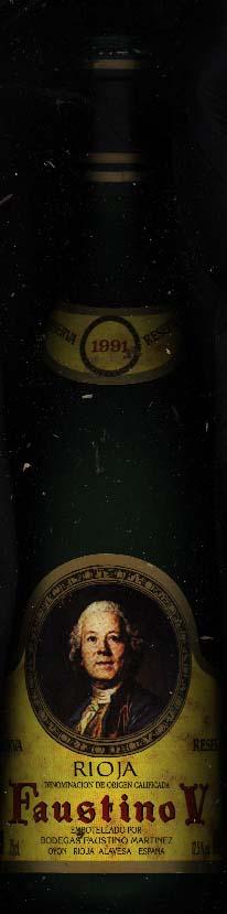 Faustino V Reserva ( Bodegas Faustino ) 1991