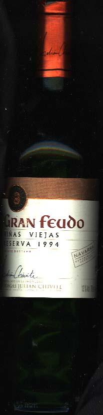 Gran Feudo Reserva ( Bodegas Julian Chivite ) 1994