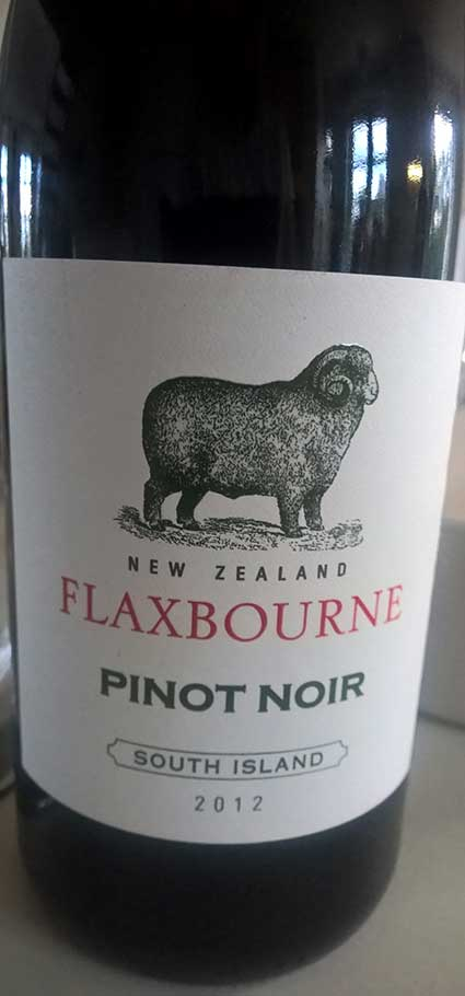 Flaxbourne Pinot Noir ( Yealands Estate Wines ) 2012