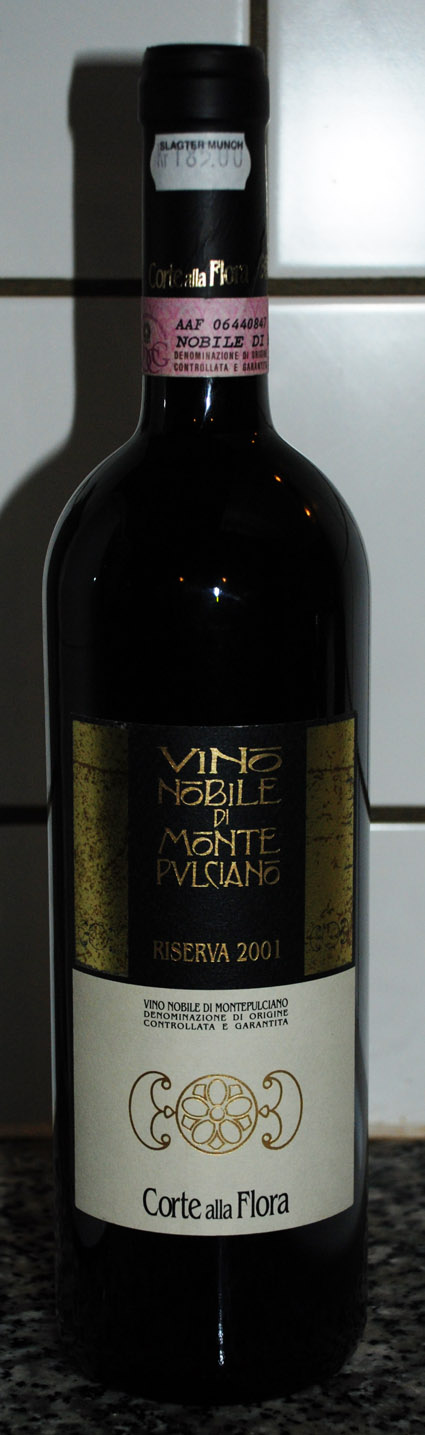 Vino Mobile di Montepulciano DOCG Riserva ( Corte alla Flora ) 2001
