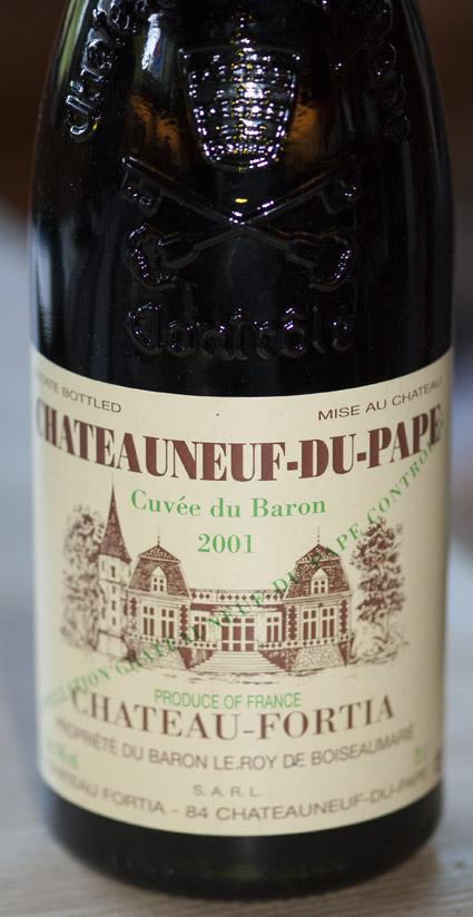 Cuvée du Baron ( Château Fortia ) 2001