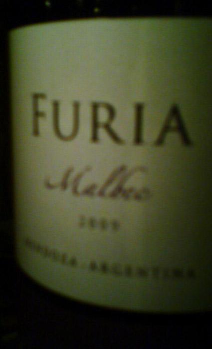 Furia Malbec ( Finca la Celia ) 2009