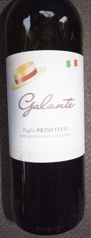 Galante Primitivo ( Racemi ) 2008