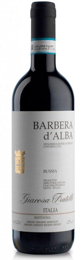 Barbera d`Alba Bussia ( Giacosa Fratelli ) 2017