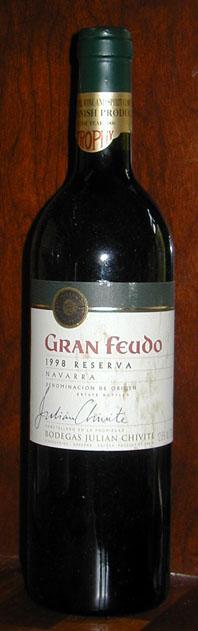 Gran Feudo Reserva ( Bodegas Julian Chivite ) 1998