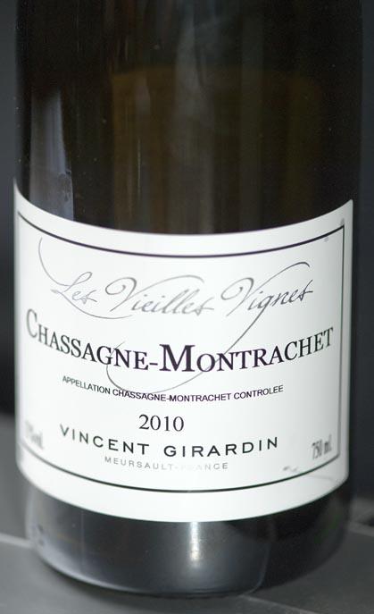 Chassagne-Montrachet Les Vieilles Vignes ( Vincent Girardin ) 2011