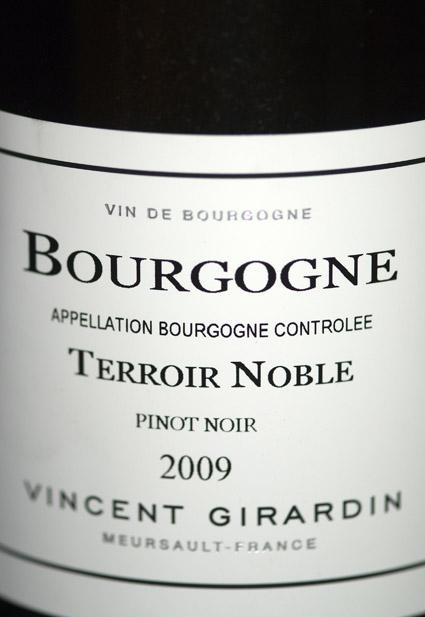 Bourgogne Terroir Noble Pinot Noir ( Vincent Girardin ) 2016