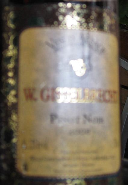 Pinot Noir ( Willy Gisselbrecht et Fils ) 2004