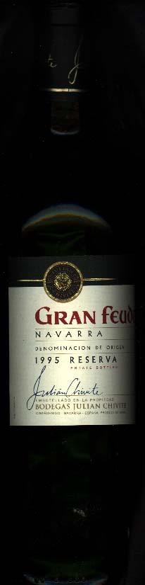 Gran Feudo Reserva ( Bodegas Julian Chivite ) 1995
