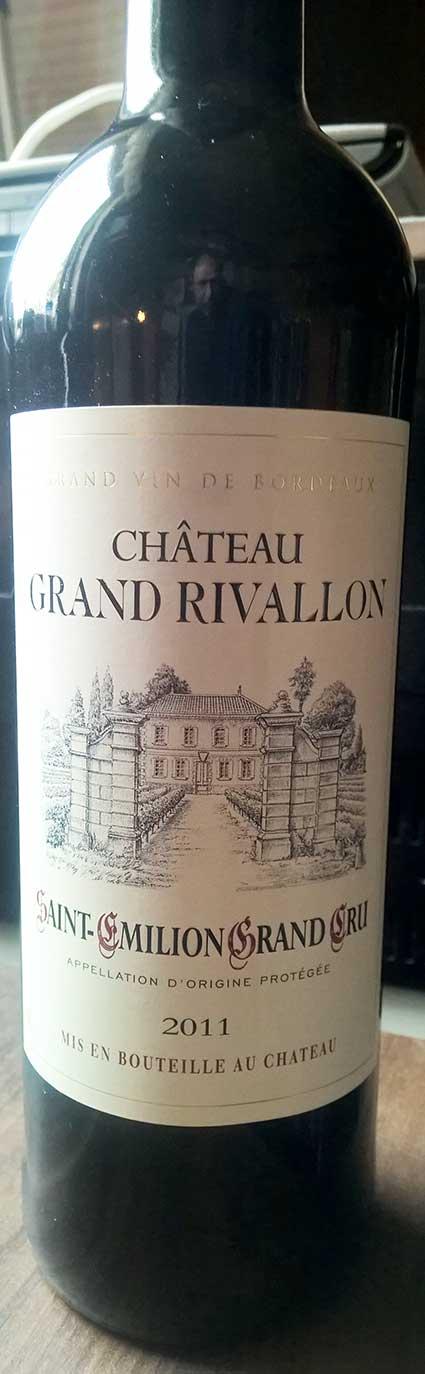 Château Grand Rivallon ( Maison Riviere ) 2012