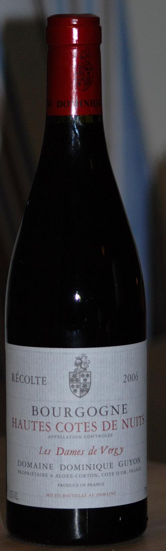 Bourgogne Hautes C.d.N Les Dames de Vergy ( Domaine Antonin Guyon ) 2006