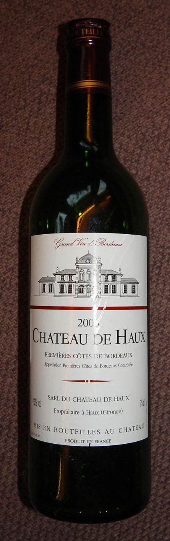 Rouge ( Château de Haux ) 2005