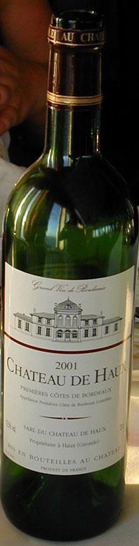 Rouge ( Château de Haux ) 2001