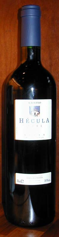 Hécula Monastrell ( Bodegas Castaño ) 2012
