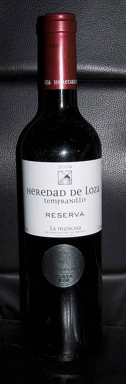 Heredad de Loza Tempranillo Reserva ( Coop. Ntra. Sra. del Rosario ) 2004