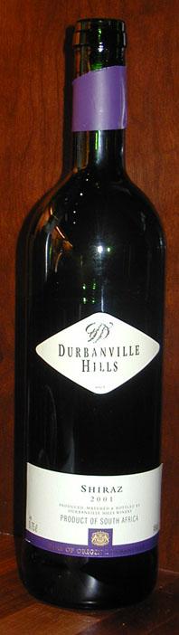 Shiraz ( Durbanville Hills ) 2001