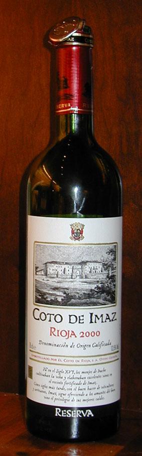 Coto de Imaz Reserva ( El Coto de Rioja ) 2000