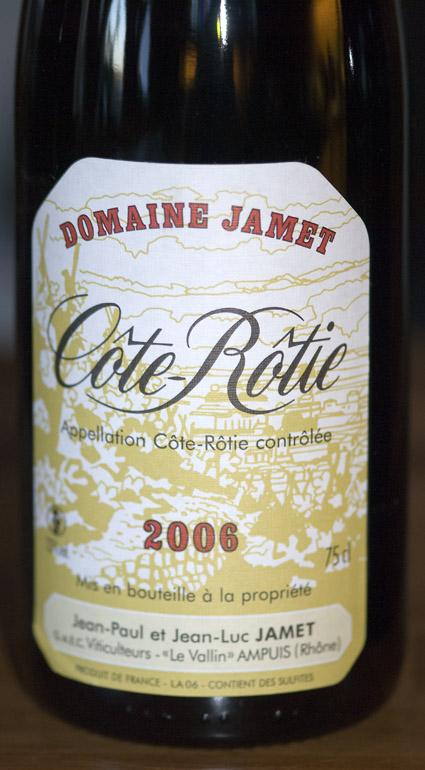 Côte-Rôtie ( Domaine Jamet ) 2009