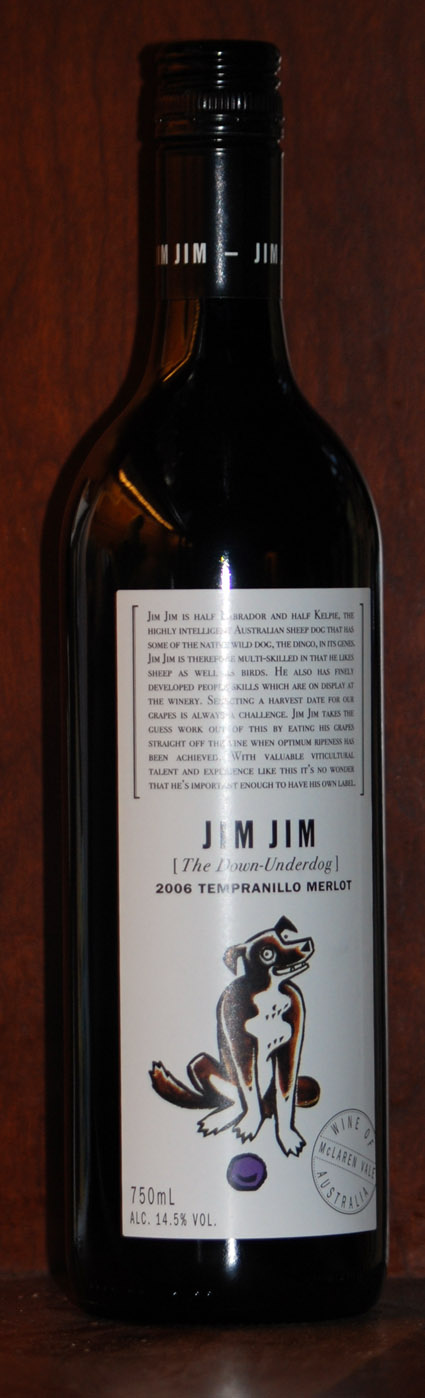 Jim Jim Tempranillo Merlot ( Hugh Hamilton Wines ) 2006
