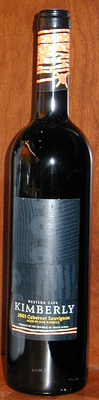 Kimberly Cabernet Sauvignon ( Arcus - Norwegian distr. ) 2003