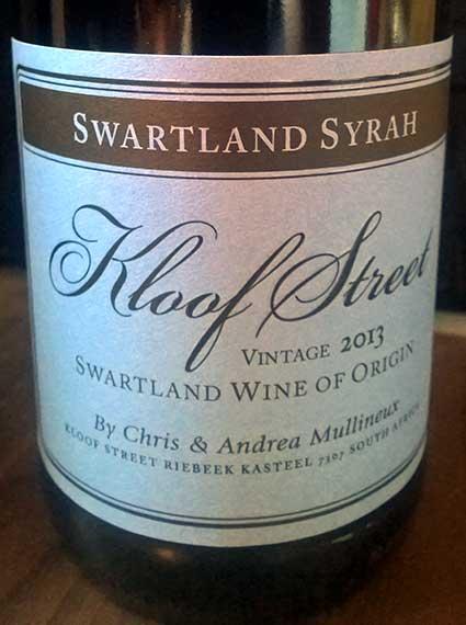 Kloof Street Swartland Syrah ( Mullineux Family Wines ) 2014