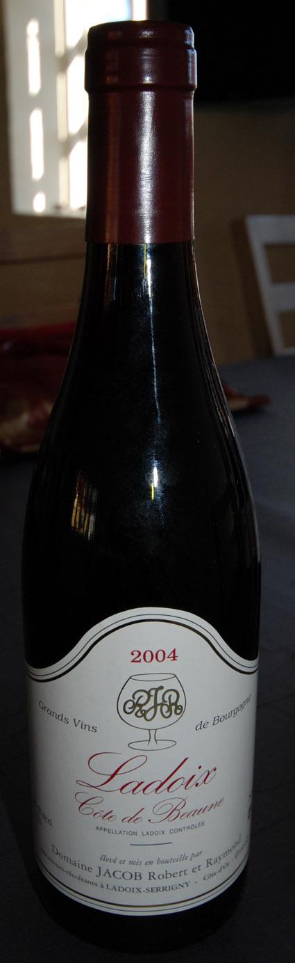 Ladoix Côtes du Beaune ( Domaine Jacob Robert et Raymond ) 2004