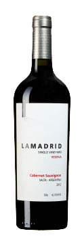 Single Vineyard Reserva Cabernet Sauvignon ( Lamadrid Estate Wines ) 2012