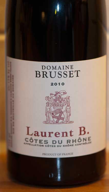 Côtes du Rhône ( Domaine Brusset ) 2007