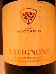 Barbera d`Asti Lavignone ( Pico Maccario ) 2008