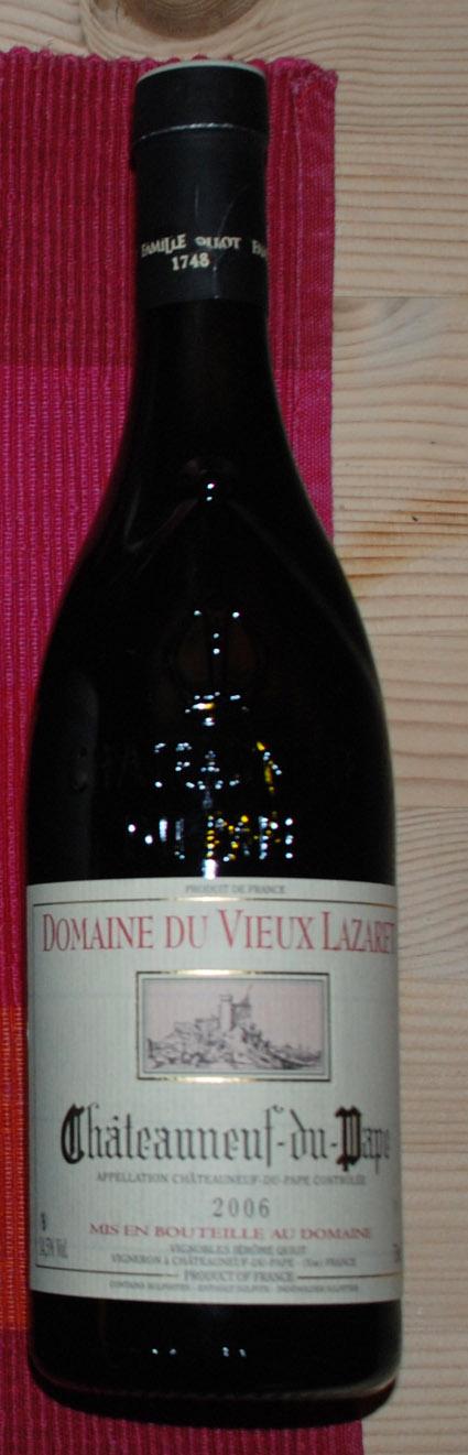Domaine du Vieux Lazaret ( Famille Quiot ) 2004
