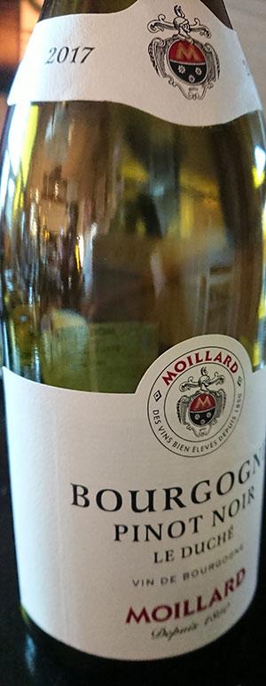 Bourgogn Pinot Noir Le Duché ( Moillard ) 2017