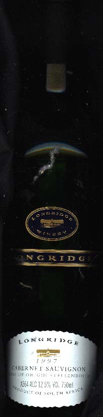 Cabernet Sauvignon ( Longridge Winery ) 1997