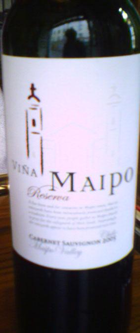 Cabernet Sauvignon Reserva ( Vina Maipo ) 2005