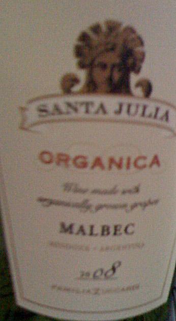 Santa Julia Organica Malbec ( Zuccardi ) 2008