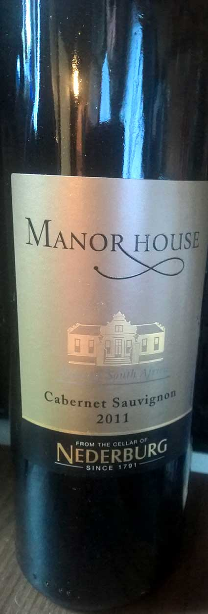 Manor House Cabernet Sauvignon ( Nederburg ) 2011