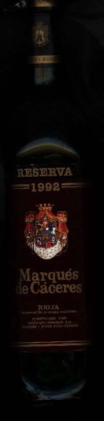 Marqués de Caceres Reserva ( Bodegas Marqués de Cáceres ) 1992