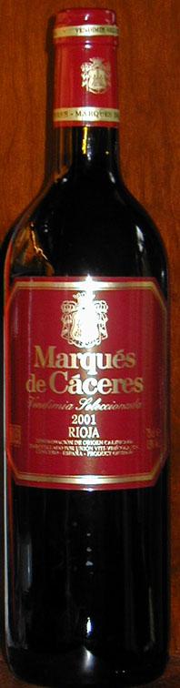 Crianza ( Bodegas Marqués de Cáceres ) 2001