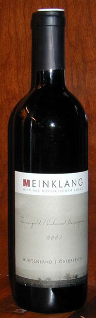 Zweigelt cabernet Sauvignon ( Meinklang ) 2001